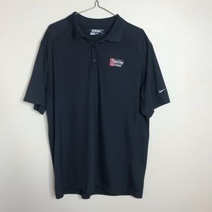 Nike Tour Golf Polo Shirt XL Black Ketel One Vodka